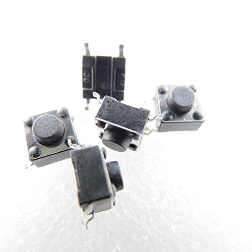 Unbekannt 10x SMD Mikrotaster Mikroschalter AUS-(EIN) 6x6x5 mm 0,05A-12V Drucktaster Mini