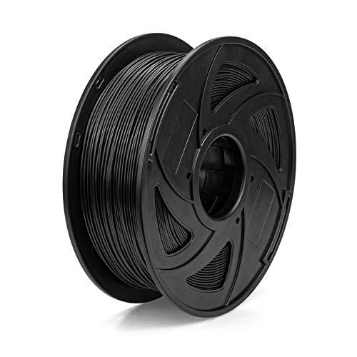 Fasmov 3D Drucker Filament Dimensional Accuracy +/- 0.02mm, 1KG (1.0kg) Spule, 1.75mm, Schwarz