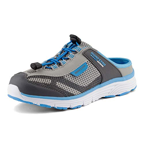 Fusskleidung Damen Herren Sabots Sneaker Sportschuhe Slip-On Clogs Pantoletten Freizeit Sandalen Grau Blau EU 39
