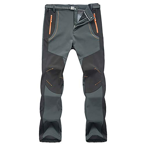 OKAY Pantaloni da Trekking Foderati in Pile Impermeabili da Uomo Pantaloni da Pesca per Pantaloni da Pesca Arrampicata Caldi E Invernali