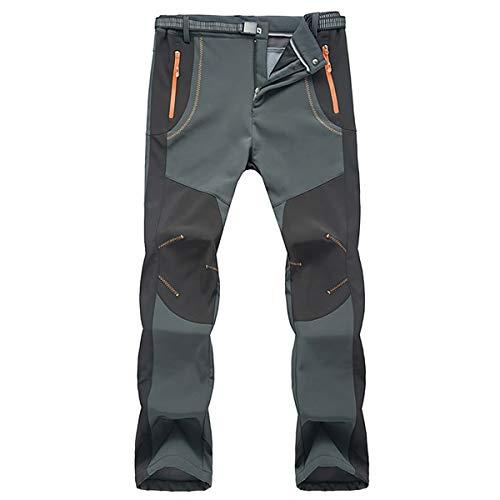 Okay Hombres Impermeable Fleece Forrado Senderismo Pantalones Invierno...