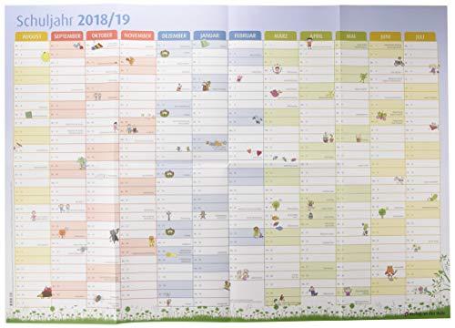 Der Schuljahres-Wandkalender 2018/2019