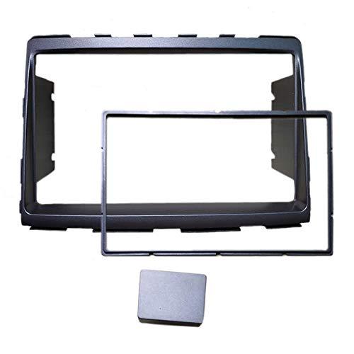 FEELDO Voiture rééquipement 2Din Kits d'installation du Tableau de Bord Fascia Cadre DVD stéréo Radio pour pour SsangYong Rodius 2013 (c: 178102mm)