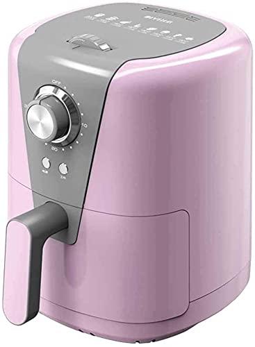 YQLWX Freidora eléctrica sin Aceite, freidora del Aire con Temperatura Constante y Control preciso para calefacción Uniforme, Gourmet Bricolaje Patrón de Cocina, Rosa (Color : Pink)