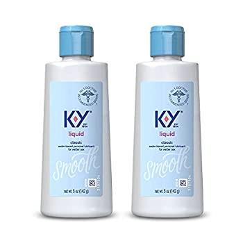 K-Y Liquid Personal Lubricant 5 oz Premium Natural Feeling Water-Based Lube For Men Women & Couples  Pack of 2