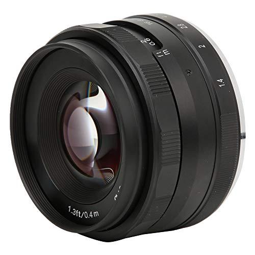 MK-3514MF Camera Focus objectief, 35mm portretfotografie lens met groot diafragma F1.4 voor Canon EOS-M EF-M Bajonet M1, M2, M3, M5, M6, M10, M100 enz.