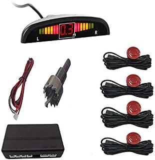 WOVELOT Parktronic De Coche Sensor De Aparcamiento Led De Coche con 4 Sensores Pantalla del Sistema Detector De Monitor De...
