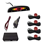 Moligh doll Auto Auto Parktronic Led Einpark Hilfe mit 4 Sensoren Rück W?rts Standby Park Radarüberwachungs Detektor System Anzeige (Rot)