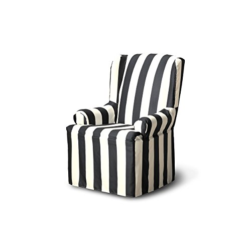 CoverWorks Havana Wing Chair Slipcover, Charcoal