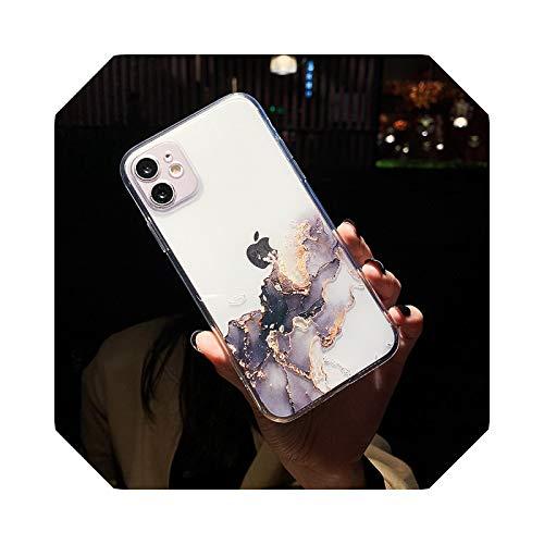 Clear Marble - Carcasa para iPhone 11 Pro Max 7 8 Plus 12 Mini XS Max X XR 12Pro Se 2020 Fashion Gradient Soft Back Cover-T3 para iPhone 7 Plus