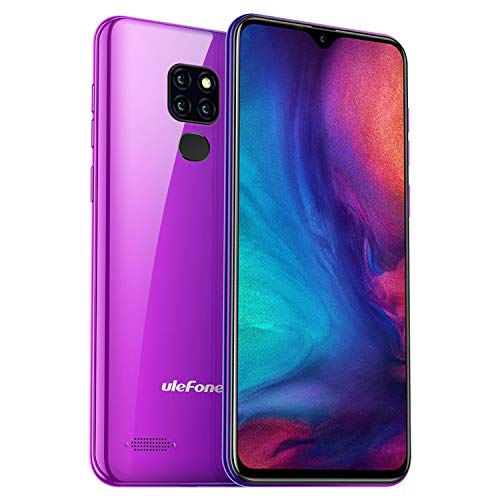 Ulefone Note 7P 4G Smartphone - 6,1 Zoll FHD+ Display 32GB interner Speicher + 3GB RAM 8MP+2MP+2MP Rückkamera Dual-SIM Android 9 Fingerabdrucksensor (Twilight)
