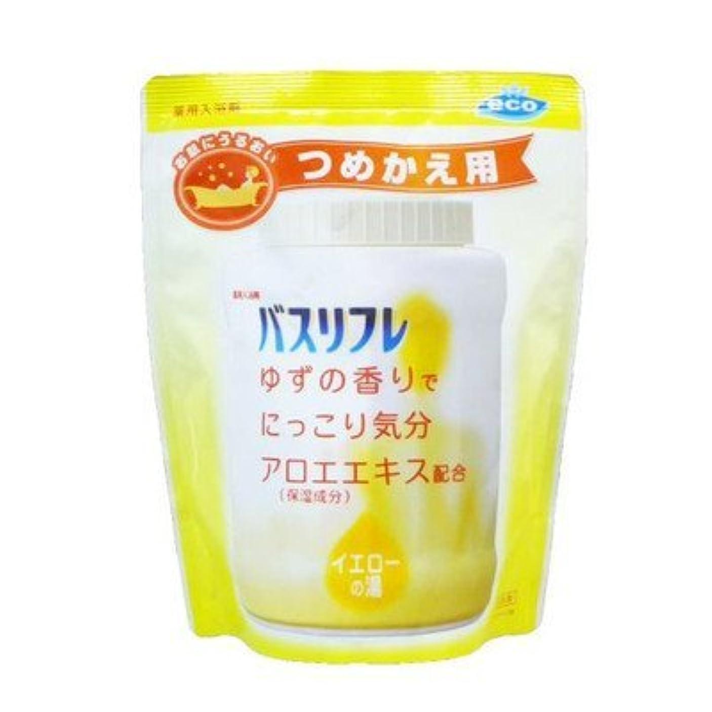 硬いの中で哲学博士薬用入浴剤 バスリフレ イエローの湯 つめかえ用 540g ゆずの香り (ライオンケミカル) Japan