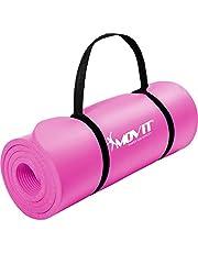 Movit® Tapis de Gymnastique Mat de Yoga sans phtalate Fitness Pilates/Sport/Gym, Taille 183cm x 60cm, très épais Épaisseur: 1,0 cm en 12 Couleurs Rembourré