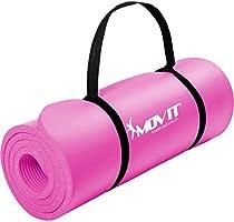 Movit® Tapis de Gymnastique Mat de Yoga sans phtalate Fitness Pilates/Sport/Gym, Taille 183cm x 60cm, très épais...