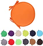 2 Pack Chair Cushion Round Seat Pads with Ties Chair Mat for Home