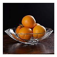 Salad bowl ceramic フルーツプレートのガラスフルーツプレート透明なクリスタルガラスのフルーツプレートフルーツパーラー耐久性のある家