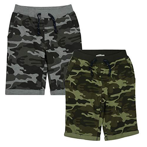 NAME IT Kinder Jungen Sweatshorts Longshorts NKMVERMO Kurze Hose Short, Farbe:Grau, Größe:122