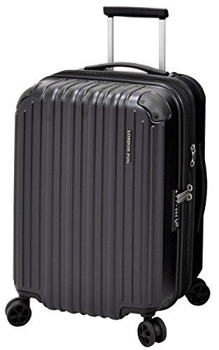 London Fog Heathrow 21' Expandable Spinner Carry-on, Black, One Size
