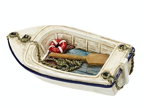 Bote de remo en miniatura 7cm Figura decorativa vacaciones mar barco playa vacaciones