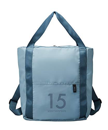 [ミレスト] MILESTO ミレスト バックパック リュック リュックサック メンズ レディース 撥水 軽量 折りたたみ 15l キャリーに通せる キャリーオンバッグ Utility 15L 37 cm ブルーグレー blue gray