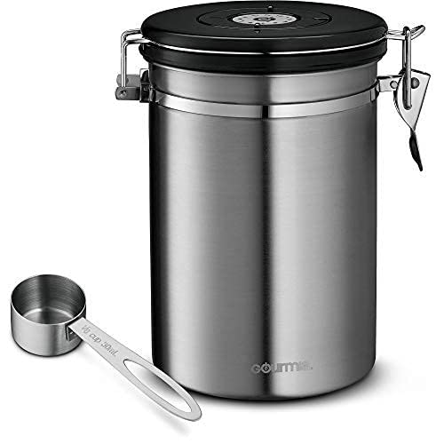Gourmia GCC9390 Coffee Canister - Stainless...