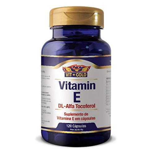 Vitamina E 120 Cápsulas - Vit Gold, 10mg, 120 Cápsulas - Vit Gold
