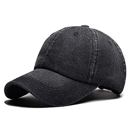 Gorras de béisbol Gorra de béisbol Hombres Gorras de Vaquero Sombreros de Marca para Mujeres Vaqueros con Hueso Denim Blank Plain Black
