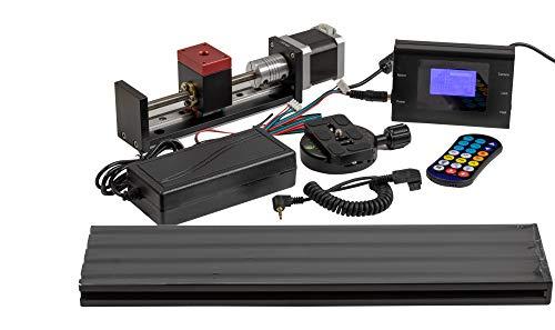 MJKZZ - Raíl macro para fotografía macro extrema con ampliaciones de hasta 50x para Sony Serie A (por ejemplo, A35 hasta A900) y Minolta