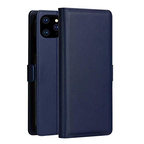 LAHappy Funda para iPhone 12/12 Pro con Tarjetero, Carcasa Piel PU Billetera Soporte Flip Folio Cover Protectora Cierre Magnético, Funda de 6.1 Pulgadas,Azul