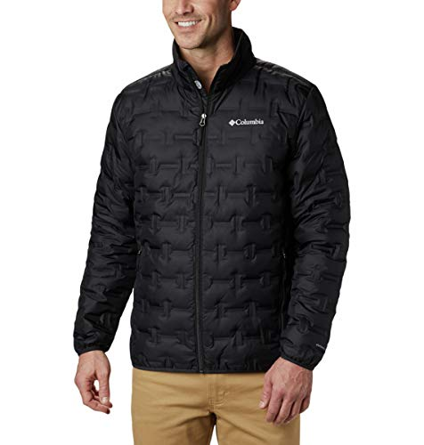 Columbia Men's Delta Ridge Down Winter Jacket, Insulated, Water repellent, Large, Black
