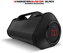 Monster Superstar Blaster Boombox: High Performance Portable Wireless Bluetooth Speaker, Water Resistant with Indoors/Outdoors EQ Modes (Updated Model (Black))