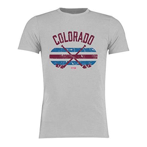 BRAYCE® Colorado T-Shirt I Eishockey Shirt Größe S - 3XL I Hockey Style für Eishockeyspieler und Fans (M)