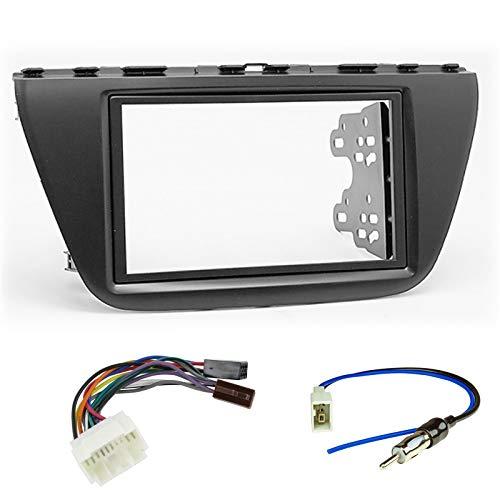 Sound Way - Kit Montaggio autoradio 2 DIN Adattatore Compatibile con SuzukiSx4 2013+ / S-Cross 2013+ - KA11-438