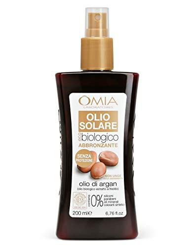 Omia, Olio Solare Abbronzante Eco Bio, Solare Senza Protezione, Abbronzatura Intensa, 200 ml