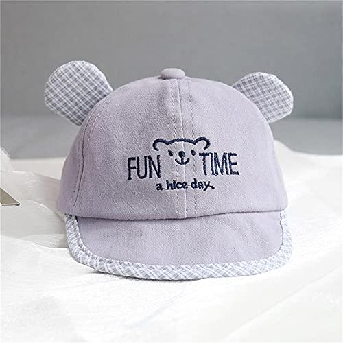 Bonita Gorra de bebé con número, Gorra de béisbol para bebé, Primavera, Verano, niños, Sombrero de algodón para el Sol, Sombreros con Visera al Aire Libre para niñas pequeñas-Gray Style 8