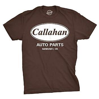 Mens Callahan Auto T Shirt Funny Shirts Cool Humor Graphic Saying Sarcasm Tee  Brown  - 3XL