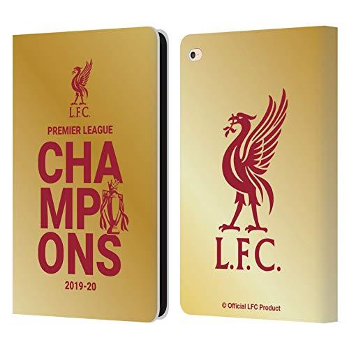 Head Case Designs Oficial Liverpool Football Club Tipografía de Oro 2020 Campeones Carcasa de Cuero Tipo Libro Compatible con Apple iPad Air 2 (2014)