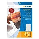 5x HERMA 7589 Fotohüllen Fotosichthüllen weiß 50 Blatt 20x30 cm