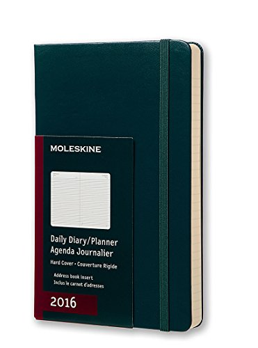 Moleskine 2016 Daily Planner, 12M, Large, Tide Green, Hard Cover (5 x 8.25)