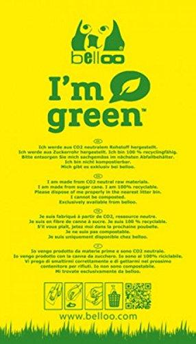 I`m green, hergestellt aus Zuckerrohr, 50 Kotbeutel geblockt von Belloo
