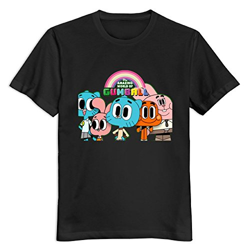 Men The Amazing World Of Gumball Custom 100% Cotton Size L Color Black T-Shirt By Mjensen