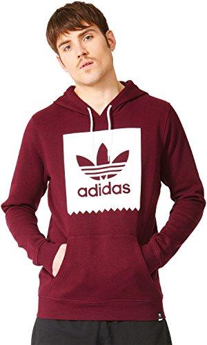 adidas Blkbrd Basic HD Sudadera, Hombre, Rojo (Granat/Blanco), XL