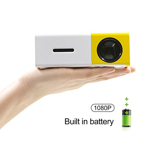 "ECCBOX PICO Mini Projector 60"" Full Color Home Media Player Cinema Theater DVDs HDMI USB AV LED with Remote Control"