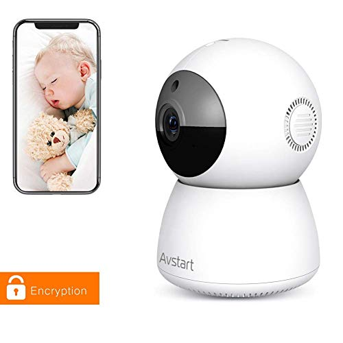 Indoor Home Security Camera 1080P, Wireless WiFi Surveillance Monitor for Office/Nanny/Pet/Baby Monitors