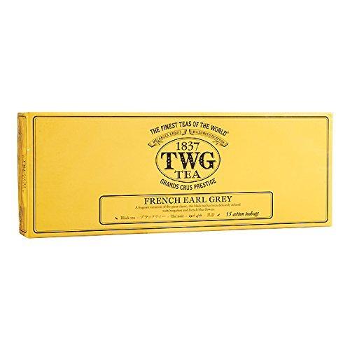 シンガポールの高級シンガポールの高級紅茶TWGシリーズ(FRENCH EARL GREY - フランスのアールグレイ- 15ティーパック)並行輸入品