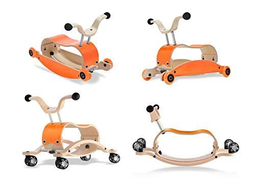 Unbekannt Wishbone Mini FLIP Deluxe Bundle Top orange + Base orange + Räder orange + Race Base (mit 360° drehbaren Räder)