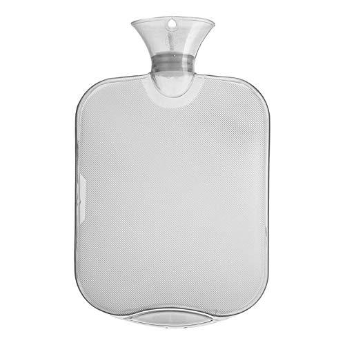 QXYOGO Bolsa De Agua Caliente 2000 ml Llena de Agua Bolsa de Agua Caliente Botella de Agua Espesada Botella Transparente Botella de Agua Caliente de Alta Densidad Bolsa 0 (Color : White)