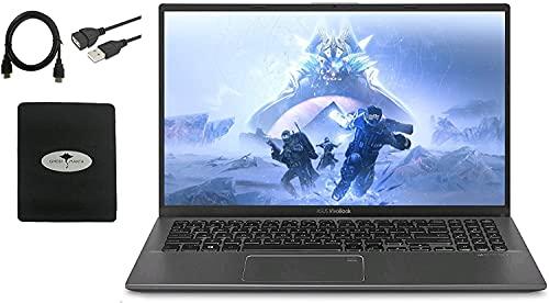 "2021 ASUS VivoBook 15.6"" FHD Business Laptop, 10th Gen Intel i3-1005G1 (Up to 3.4GHz Beat i5-8250U), 20GB RAM 512GB PCIE SSD, Backlit KB, Fingerprint, Win10 S Mode W/ GM Accessories"