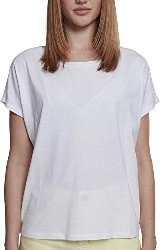 Urban Classics Ladies Basic Drop Shoulder Tee T-Shirt, Bianco (White 00220), 3XL Plus Donna
