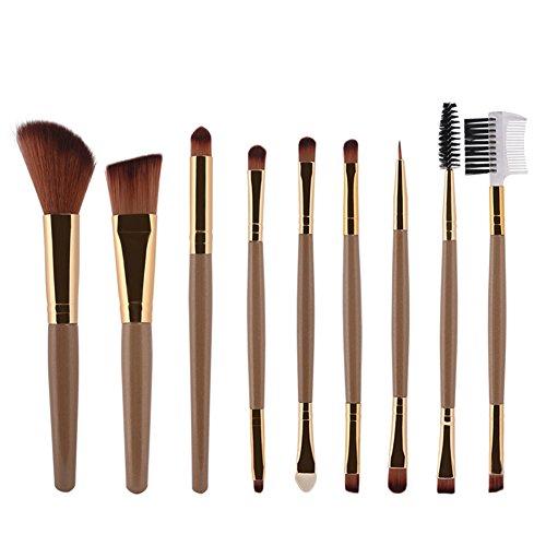 9PCS Pro morbido nylon Hair lip blush pennelli fondazione ombretto in polvere